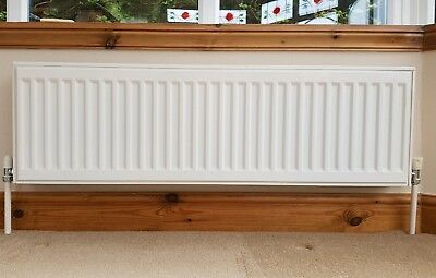 2 Double Radiators suitable for dwarf wall in conservatory. 100 cm x 30 cm