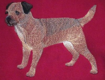 Embroidered Ladies Short-Sleeved T-Shirt - Border Terrier C4888