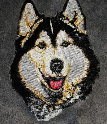 Embroidered Ladies Short-Sleeved T-Shirt - Siberian Husky BT2297