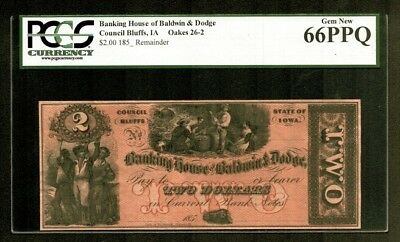 $2 185- Banking House Baldwin & Dodge Council Bluffs IOWA PCGS Gem New 66PPQ