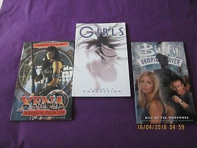 Three Graphic Novels - Xena/buffy/girls  All Good - Very Good- See Photographs..