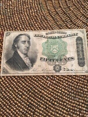 Fractional Currency 50 Cents 1869-1875