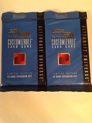 Star Trek The Next Generation CCG Alternate Universe (X2) Sealed Booster Packs
