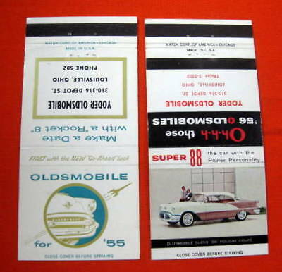 Yoder Oldsmobile Matchbook Covers Louisville OH 1955