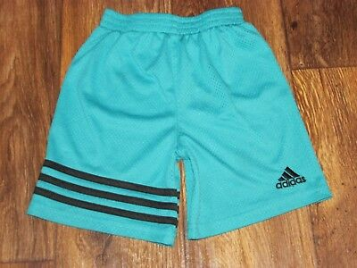 Adidas Athhletic Shorts, Boys Size 4T, Teal/Black Colors, Good Condition,