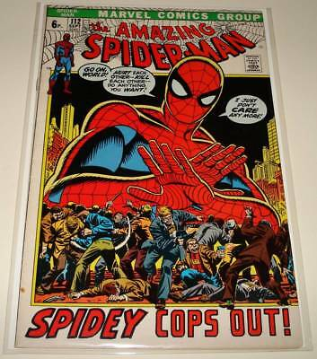The AMAZING SPIDER-MAN # 112 Marvel Comic (Sept 1972)   VG/FN   Spidey Cops Out!