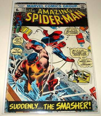 The AMAZING SPIDER-MAN # 116 Marvel Comic (Jan 1973)   GD   The Smasher