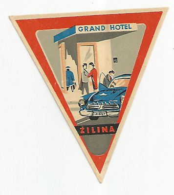 GRAND HOTEL luggage label (ZILINA)