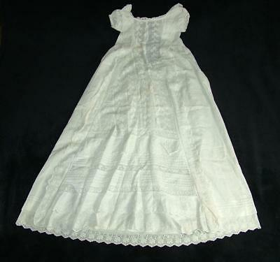 "Antique Lace Child's Christening Gown 37"" Long From Old Estate Sale"