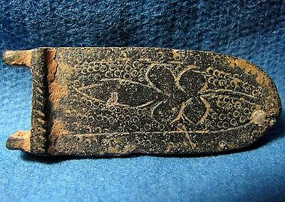 Judaea : Medieval bronze Crusaders times Buckle with Lily flower.