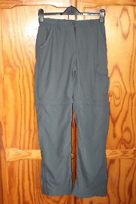 Womens Craghoppers Nosquito Hiking Cargo Zip Off Trousers Blue Size 8 R