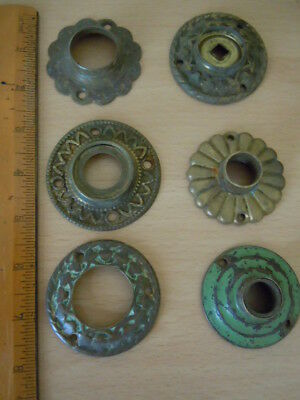 Vintage Brass Backplates For Door Knobs/Handles. None Matching
