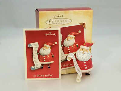 Hallmark Keepsake Ornament 2004 So Much To Do - Santa Claus - #PR3035-SDB