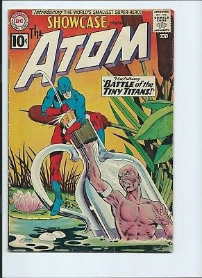 Showcase 34 - Vg+ 4.5 - Origin And 1St Appearance Of Silver Age Atom (1961)