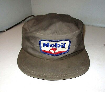 40's - 50's Mobil Oil Gas Station Service Attendant Hat Flying Pegasus