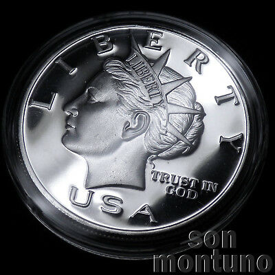 1999 NORFED 1oz .999 Silver American Liberty USA $10 Round Medal in Capsule RARE