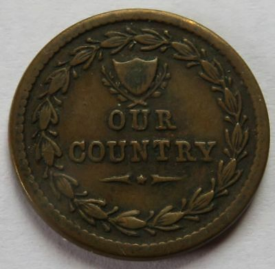 Our Country, 76 Cannons Flags, Civil War Token, Patriotic CWT coin  (152027S)