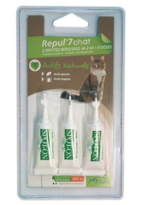 Pilou Repul'7 Pipette Repulsive Chat Felin  Animalerie Anti Puce Tique Animaux
