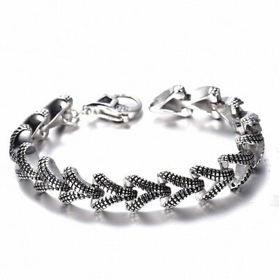 Brand New Mens 316L Silver Stainless Steel Bangle Cuff Bracelet Jewelry Gift