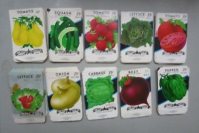 Wholesale Lot of 250 Old Vintage Vegetable SEED PACKETS - 25-35 cent - EMPTY