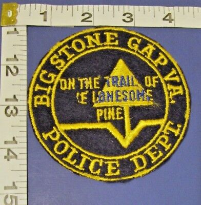 Big Stone Gap Virgina  Police Shoulder Patch