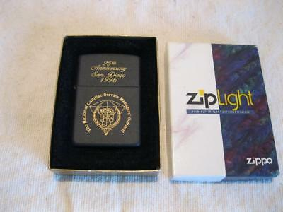 Cadillac National Service Managers Council Zippo Ziplight Poclet Light Lighter