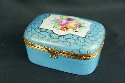 """Superb Exceptional antique 19th C. hand painted French box-4"""" wide [Y8-W6-A9]"""