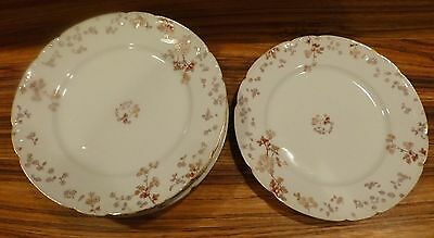 "Antique HAVILAND Burley & Co Chicago-6 plates 9 1/2"" ca. 1900 [Y8-W7-A9]"