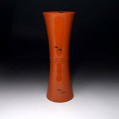 TE6: Vintage Japanese Lacquered Wooden Vase, Natural wood, Tea ceremony