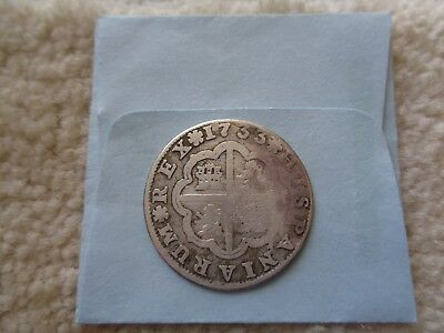 1733 Spain 2 Real Silver coin