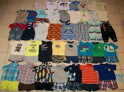 Baby Boys Clothes/Outfits/Bodysuits Lot of 60 Size 6-9/6-12 Months Summer