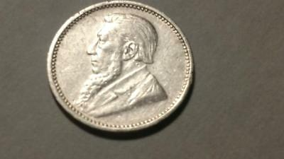 South Africa 1896 Silver 3 Pence - Free  Shipping
