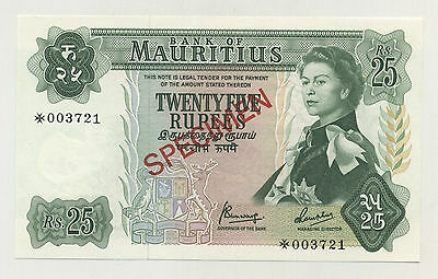 Mauritius 25 Rupees ND 1978 Pick 32.s UNC Uncirculated Banknote Specimen
