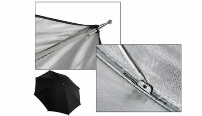 "33"" Photography Umbrella Reflector 84cm Silver Black Flash Speedlite Shoot Kit"