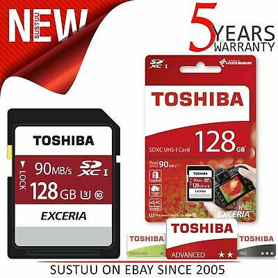 Toshiba EXCERIA N302 128 GB MicroSD with Adapter│90MB/s│4K Record│Phone & Camera