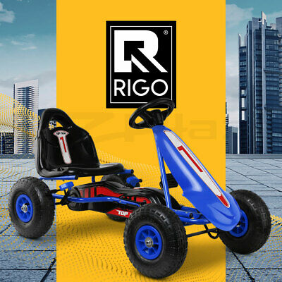 RIGO Pedal Go Kart Car Ride On Toys Racing Bike Cars Rubber Tyre Adjustable Seat