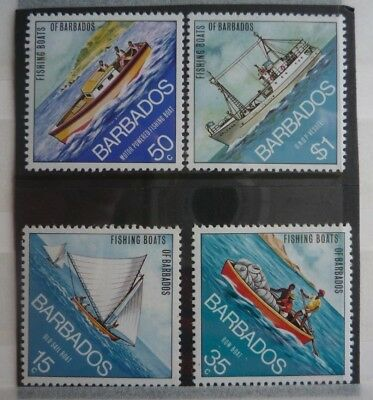 Barbados mint stamp set `Fishing Boats of Barbados` (1974)