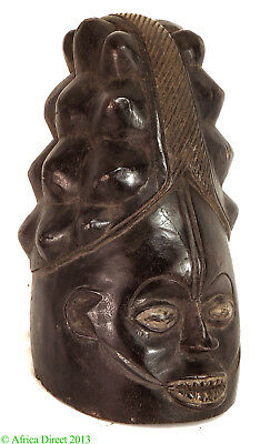 Mende Helmet Mask Sowei Sande Society Liberia African Art SALE WAS $450