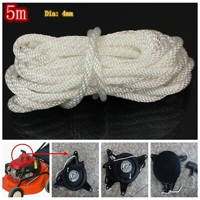 White 4mm*5m Nylon Recoil Pull Start Starter Cord Rope Chain For Most Lawnmower