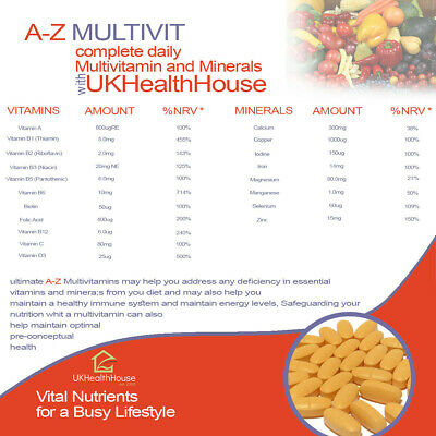 High Strength Ultimate A-Z Multivitamin 1000mg Tablets