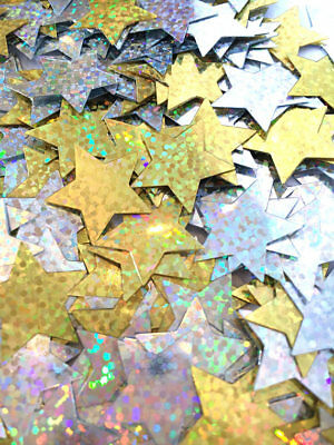 Large Holographic Confetti Stars Silver & Gold Card Making Crafts Embellishments