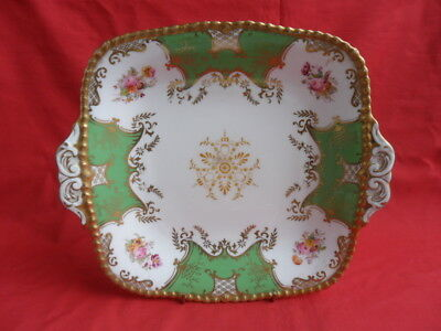 Coalport Antique, Batwing (Green) Cake Plate or Serving Plate