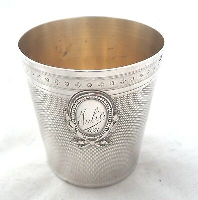 FRENCH 950std SILVER BEAKER c1880 Georges Bachelet