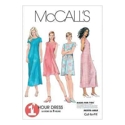 FREE UK P&P - McCalls Ladies Sewing Pattern 6102 Dress In 2 Lengths ...