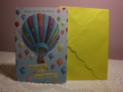 Carol's Rose Garden - Happy Birthday - A Hot Air Balloon is on the cover