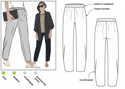 Style Arc Ladies Sewing Pattern Linda Pants MLPW022S-M