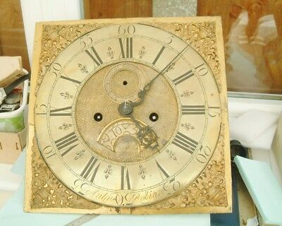 Longcase grandfather clock movement 8 day Brass dial Anthony Robinson nice lot