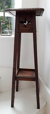 Antique c1910 Arts & Crafts Wooden Plant/ Lamp Stand. English Edwardian Home