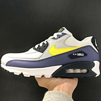 422bc1f0809 Nike Air Max 90 essential White Yellow Blue Size US 7- 13 men sneakers 2018