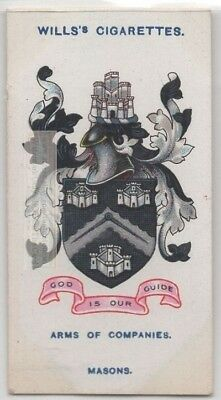 Worshipful Company Of Masons Stonemasons Craft Construction 100+ Y/O Trade  Card